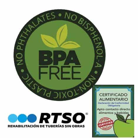 Fontaneria Sin Bisfenol Certificado Alimentario